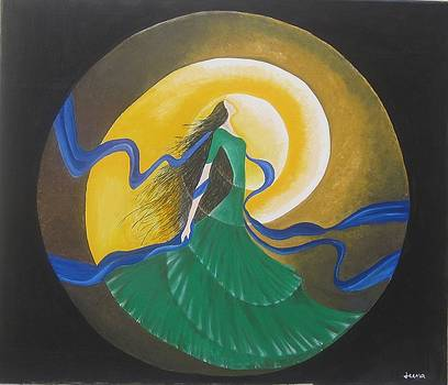 Auspicious Moment-Oil Painting by Rejeena Niaz