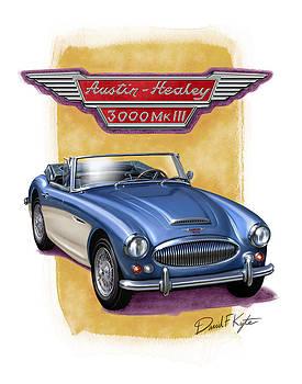 Austin Healey 3000 Blue-white by David Kyte