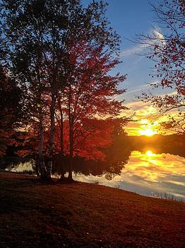 Autumn at the Lake by Megan Noble