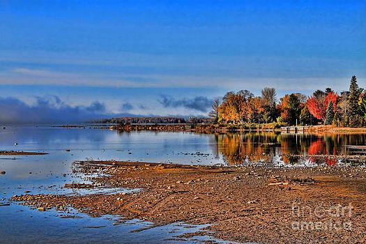 Autumn Beach Solitude by Cathy  Beharriell
