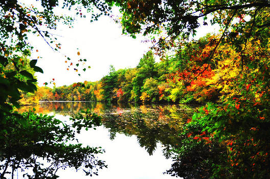 Autumn by the Lake by Heather Bridenstine