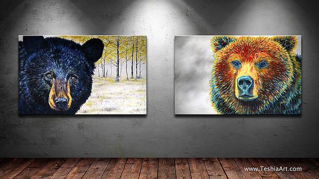 Teshia Art - Autumn Eyes and Bear Thoughts Display Image