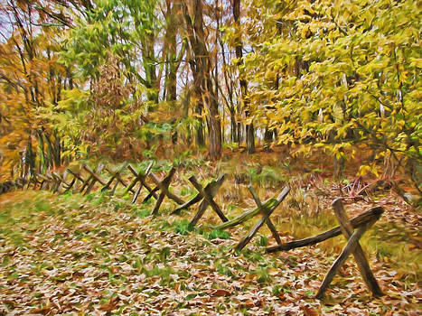 Autumn Fence by Beckie Fitgerald