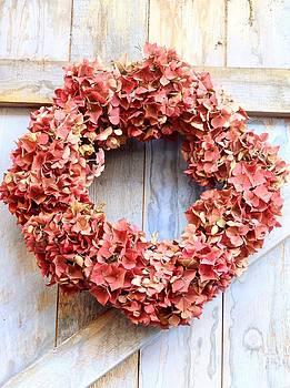 Autumn Hydrangea Wreath by Emma Manners