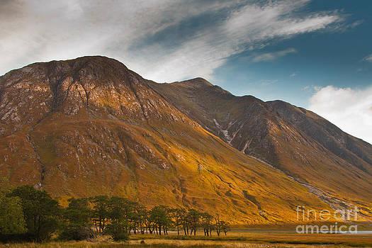 Autumn in Glen Etive Scotland by Gabor Pozsgai