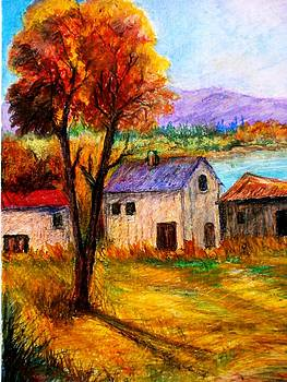 Autumn in lake Prespa by Constantinos Charalampopoulos