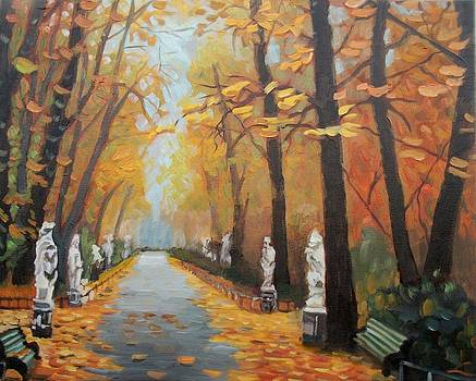 Autumn in Summer Garden by Elena Sokolova