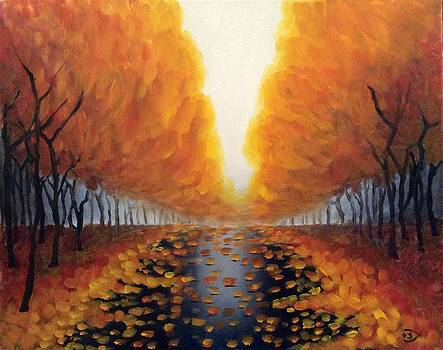 Autumn Leaves after the Rain by Velma Serrano