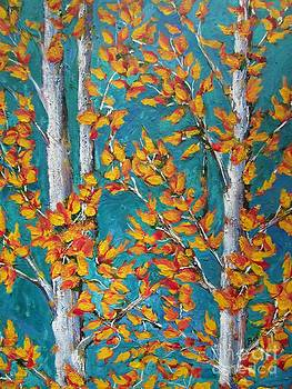 Autumn-Leaves- Aspen Trees by Beverly Livingstone
