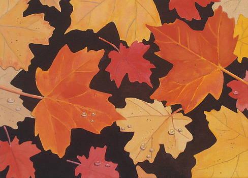 Fallen Autumn Leaves by Elaine Jones
