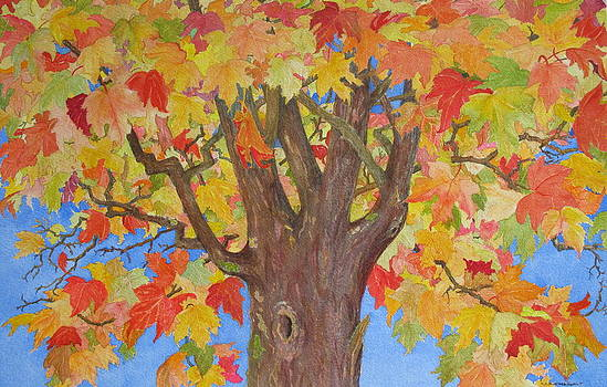 Autumn Leaves II by Mary Ellen  Mueller Legault