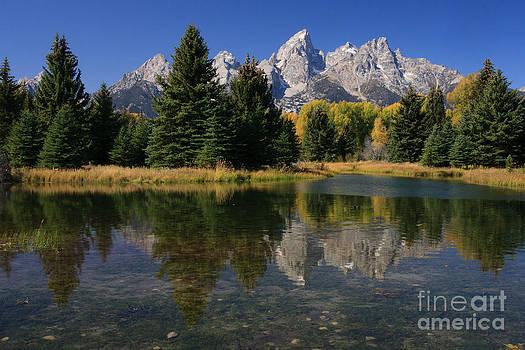 Autumn Mountain Reflection by Karen Lee Ensley