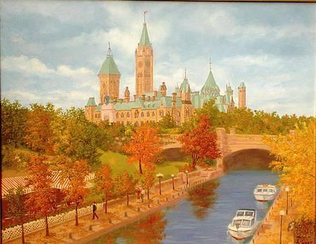 Autumn Rideau Canal  by Darlene Agner