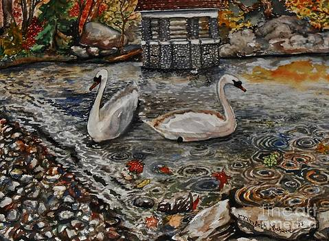 Autumn Swans by Emily Michaud