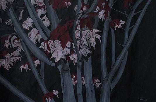 Autumn Tree At Night by Carol De Bruyn