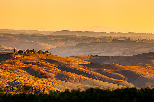 Autumn Tuscany field by Cristian Mihaila