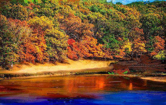 Angela A Stanton - Autumn Vibrancy over the Lake