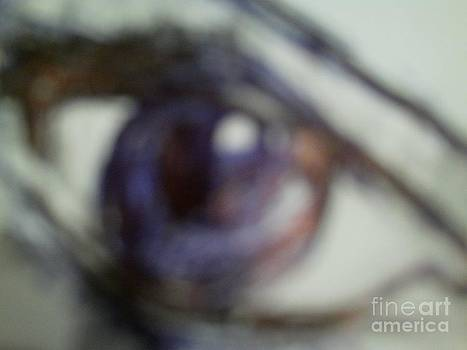 Ava Karabatic's lovely eye by Luksa Obradovic