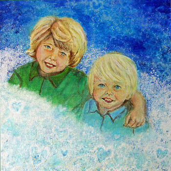 Avery and Atley Angels of Brotherly Love by The Art With A Heart By Charlotte Phillips