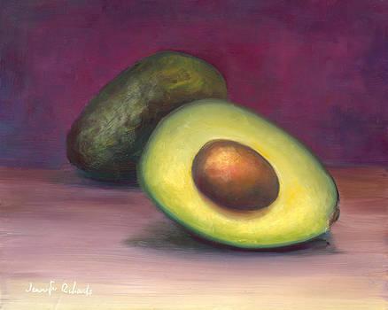 Avocado and a half by Jennifer Richards
