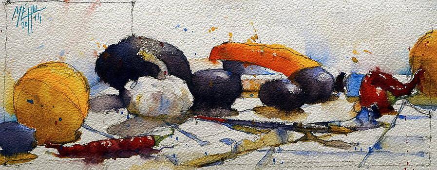 Avocado and stapler by Andre MEHU