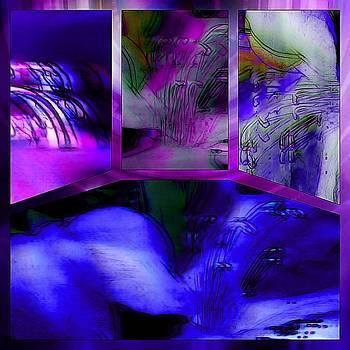 Susan Maxwell Schmidt - Azalea Abstract Tetraptych Collage