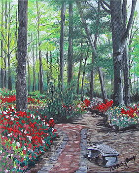 Azalea Walkway by Michelle Young