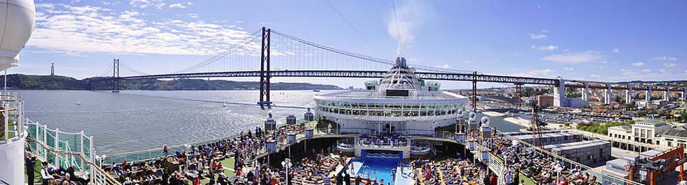 Azura Cruise Lisbon Pano by Simon Clare