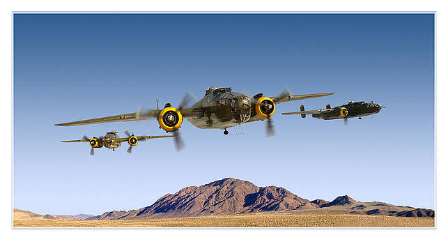 B-25 Mitchell Bomber by Larry McManus