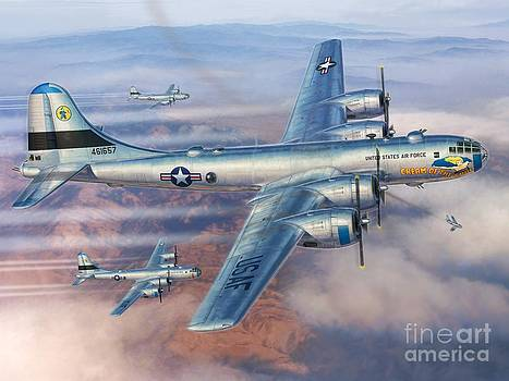 B-29s Over Korea by Stu Shepherd