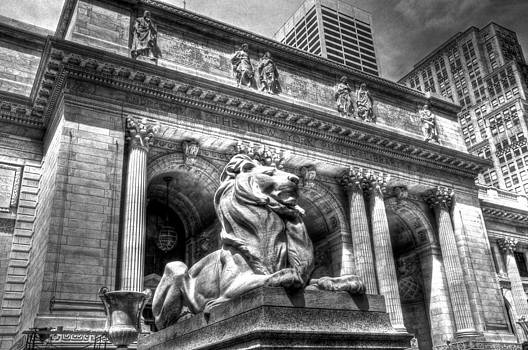 B W NYC Library by Mike Berry