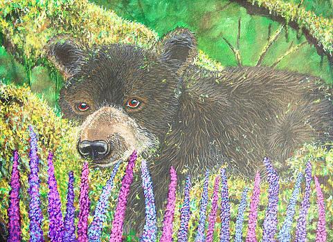Nick Gustafson - Baby Bear and Wildflowers