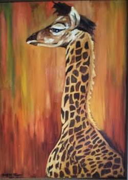 Baby Giraffe by Brent Vall Peterson