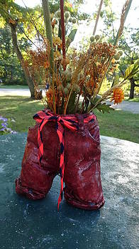 Baby Jeans Pants Vase by Kathleen Luther