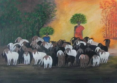 Back home by Usha Rai