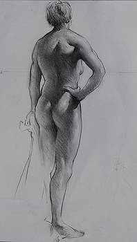 Back lighting on Nude by Ernest Principato
