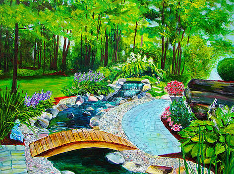 Back yard Garden Extradinaire by Suzanne Johnson
