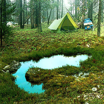 Backcountry Camp by Ric Soulen