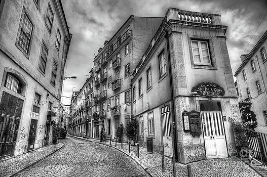 English Landscapes - Backstreets Of Lisbon BW
