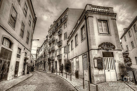 English Landscapes - Backstreets Of Lisbon Sepia