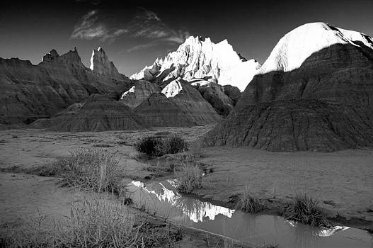 Badlands Black and White by Chris  Allington