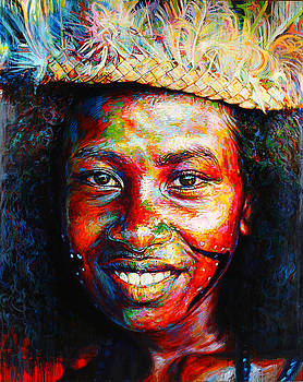 BagaBaga Canoe Girl by Stephen Bennett