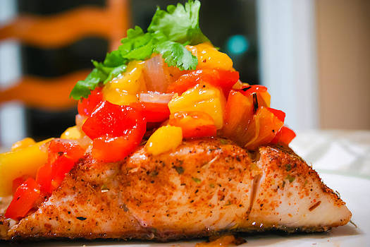 Baked Fish With Warm Mango Salsa by Princess Kidwell