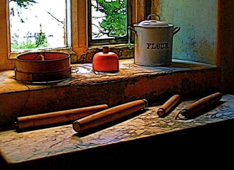 Baker's tools by Ron Harpham