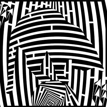Balancing Cat Maze by Yonatan Frimer Maze Artist