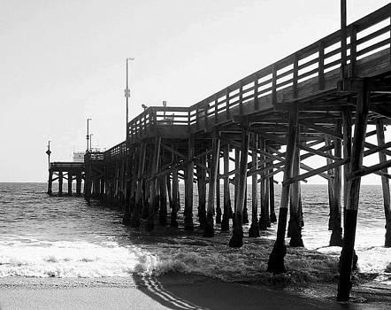 Carolyn Stagger Cokley - balboa pier bw