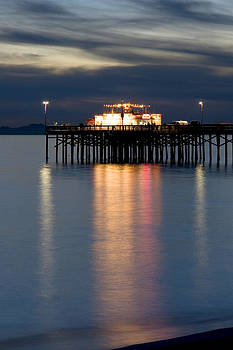 Balboa Pier Lights Portrait by Chris Brannen