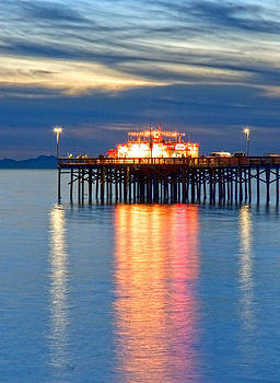 Balboa Pier Lights Portrait HDR by Chris Brannen