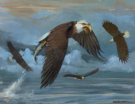 Bald Eagle by ACE Coinage painting by Michael Rothman