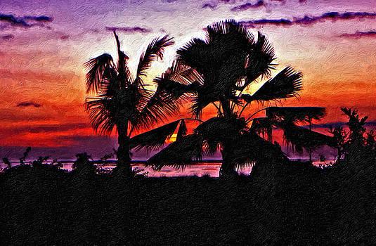 Steve Harrington - Bali Sunset impasto paint version